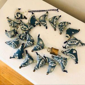 Vintage Indian cloth bird bell folk art